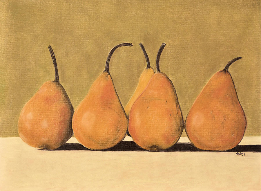 Golden Pears  Pastel