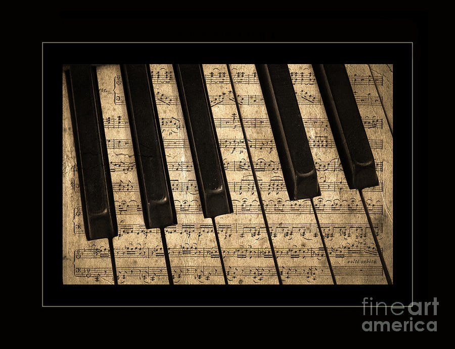 Golden Pianoforte Classic Photograph