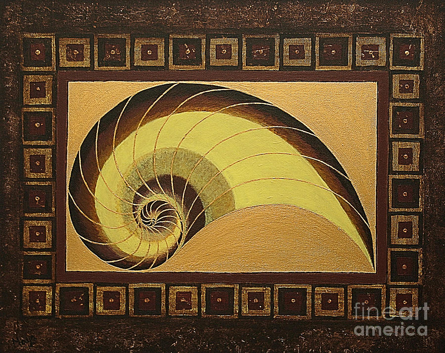 Golden ratio spiral painting by maya b for Golden ratio artwork