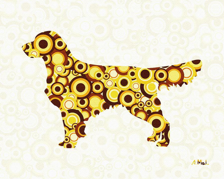 Golden Retriever - Animal Art Digital Art