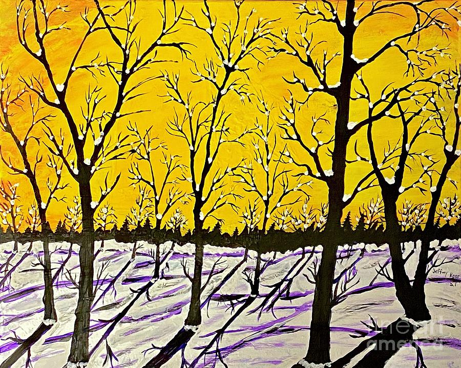 Golden Shadows Painting  - Golden Shadows Fine Art Print