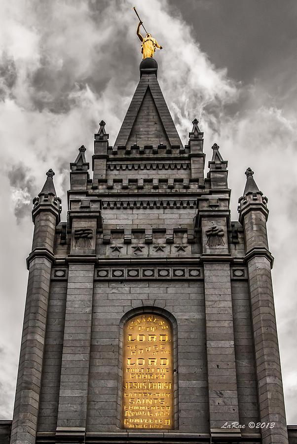 Golden Slc Temple Photograph