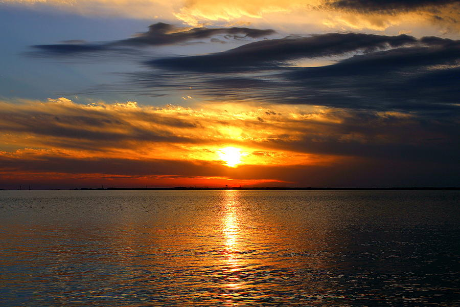 Sunset Photograph - Golden Sun by Faith Williams