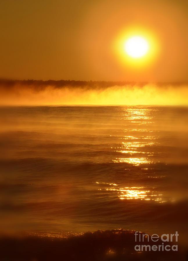 Golden Sunrise Over The Water Photograph By Jill Battaglia