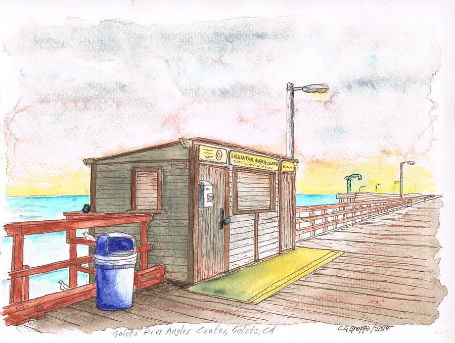 Nature Painting - Goleta Pier Angler Center - Goleta Beach - California by Carlos G Groppa