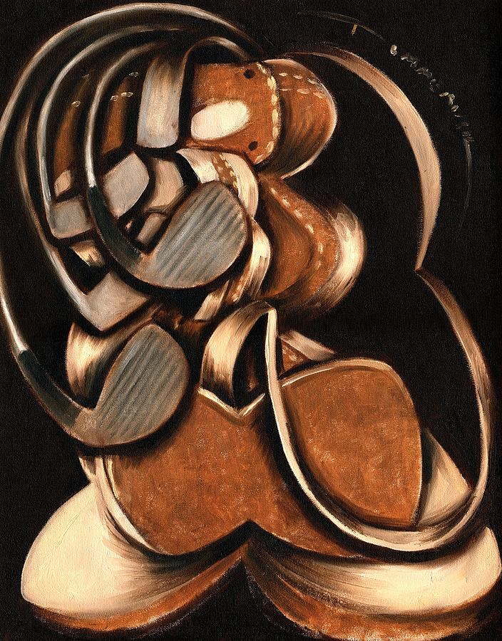 Golf Bag And Clubs Painting