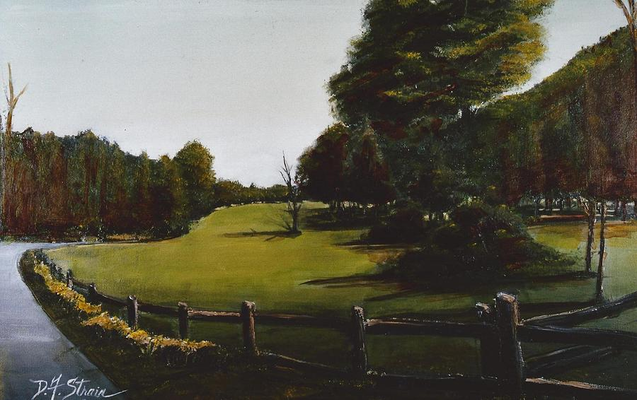 Golf Course In Duxbury Ma Painting  - Golf Course In Duxbury Ma Fine Art Print
