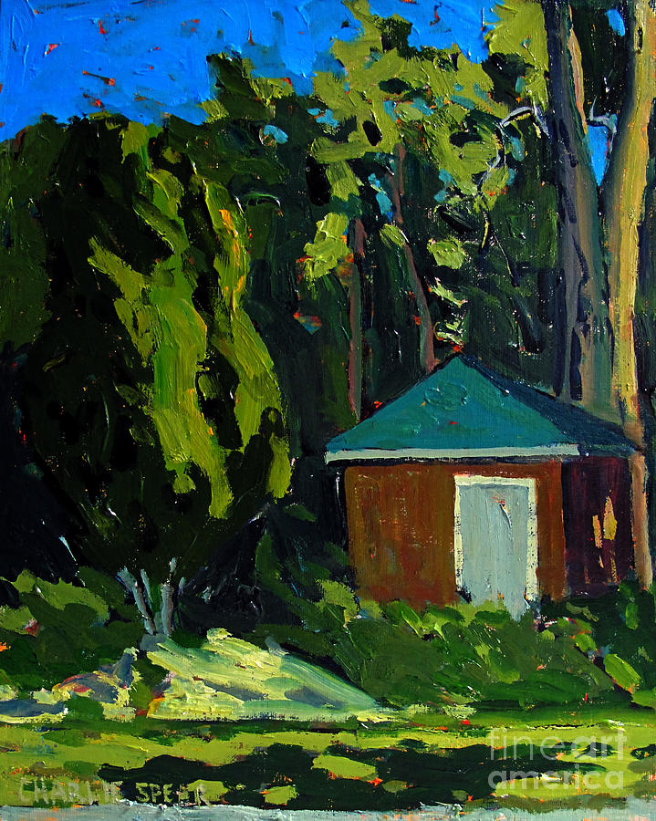 Golf Course Shed Series No.19 Painting  - Golf Course Shed Series No.19 Fine Art Print