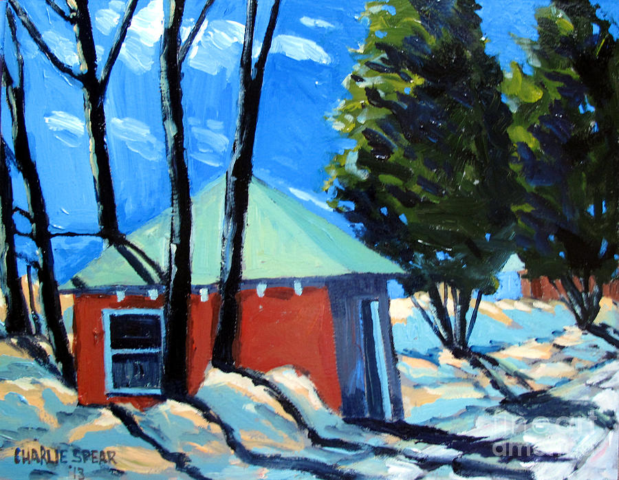 Golf Course Shed Series No.4 Painting
