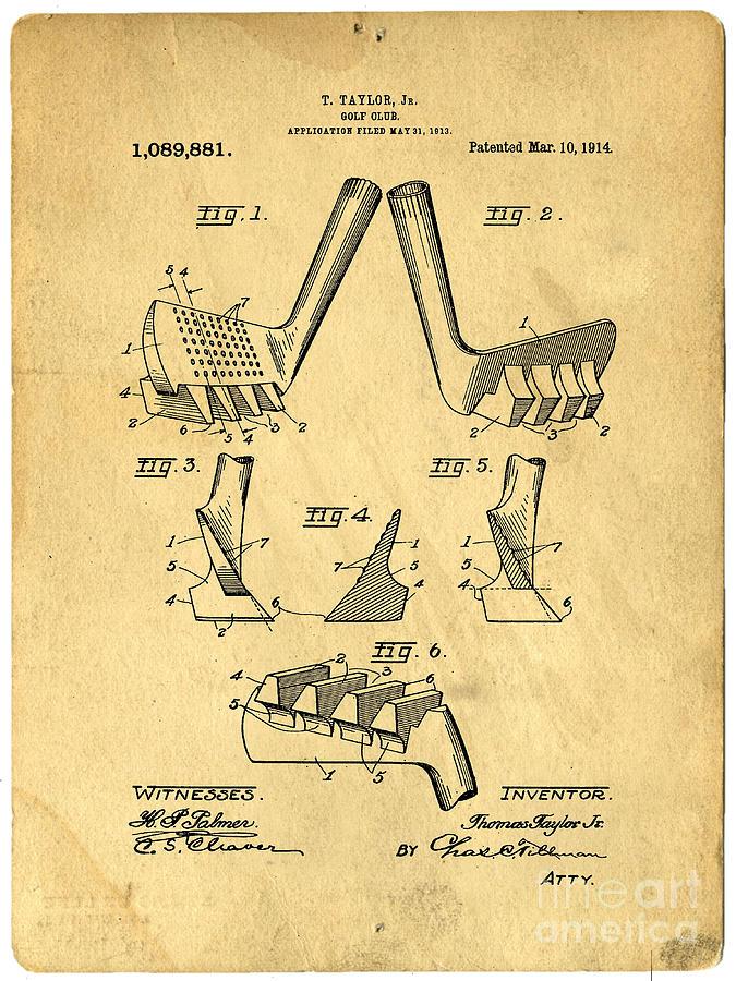 Golf Putter Patent Photograph