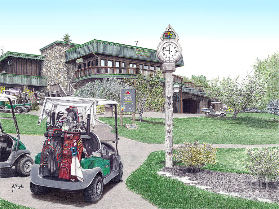 Golf Painting - Golf Seven Springs Mountain Resort by Albert Puskaric