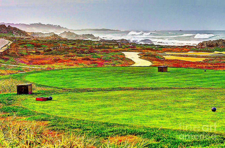 Golf Tee At Spyglass Hill Photograph