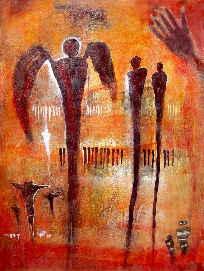 Golgotha Petroglyph Painting