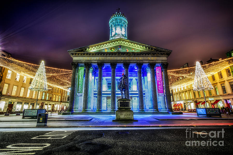 Goma Glasgow Lit Up Photograph  - Goma Glasgow Lit Up Fine Art Print