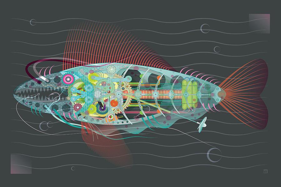 Gone Fishing Digital Art