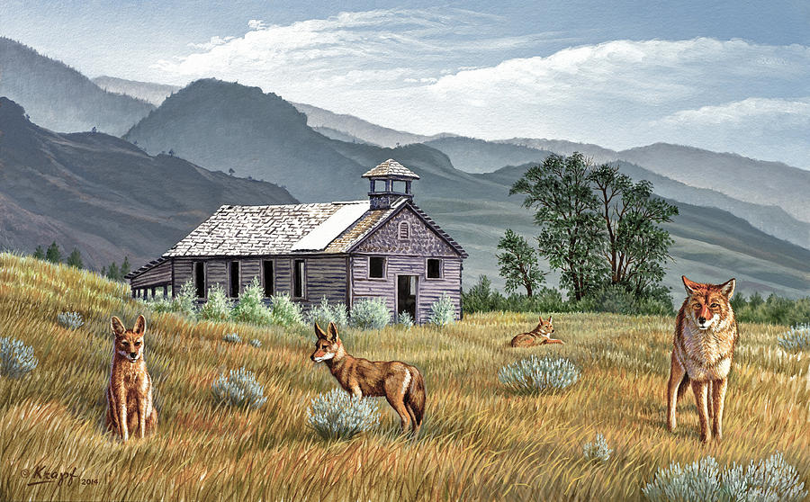 Old Buildings Painting - Gone To The Dogs by Paul Krapf