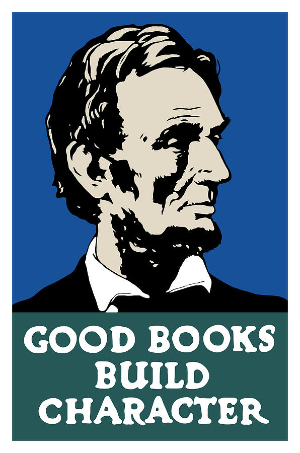 Good Books Build Character Painting  - Good Books Build Character Fine Art Print