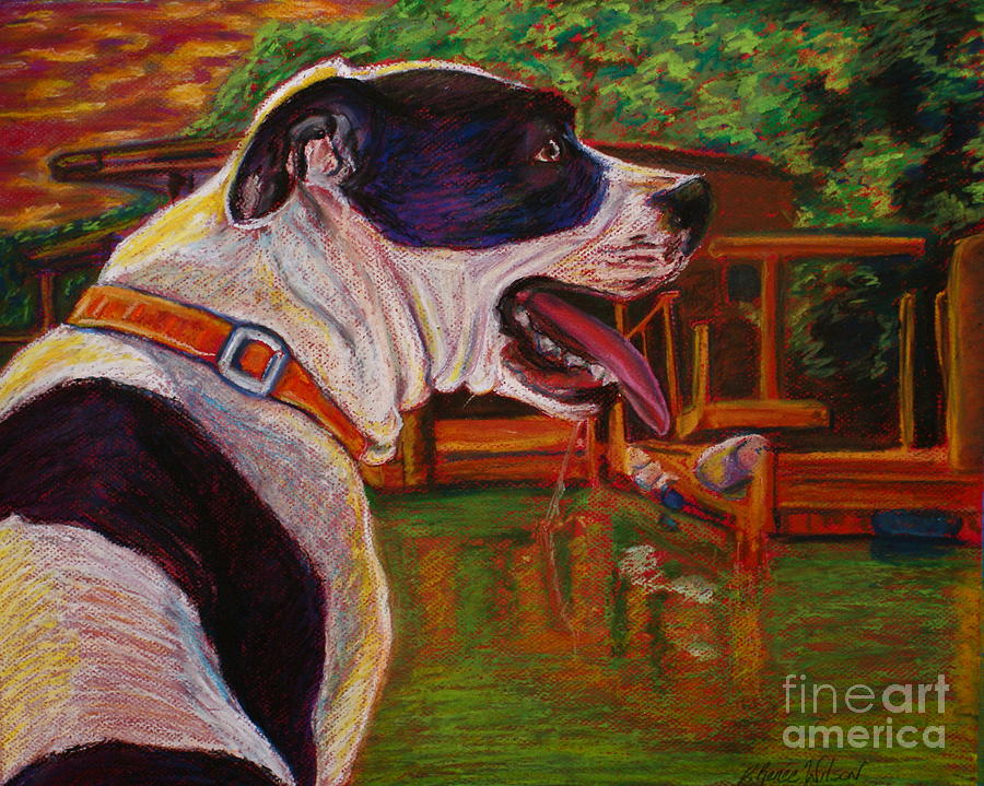 Pitbull Painting - Good Day On The Boat by D Renee Wilson