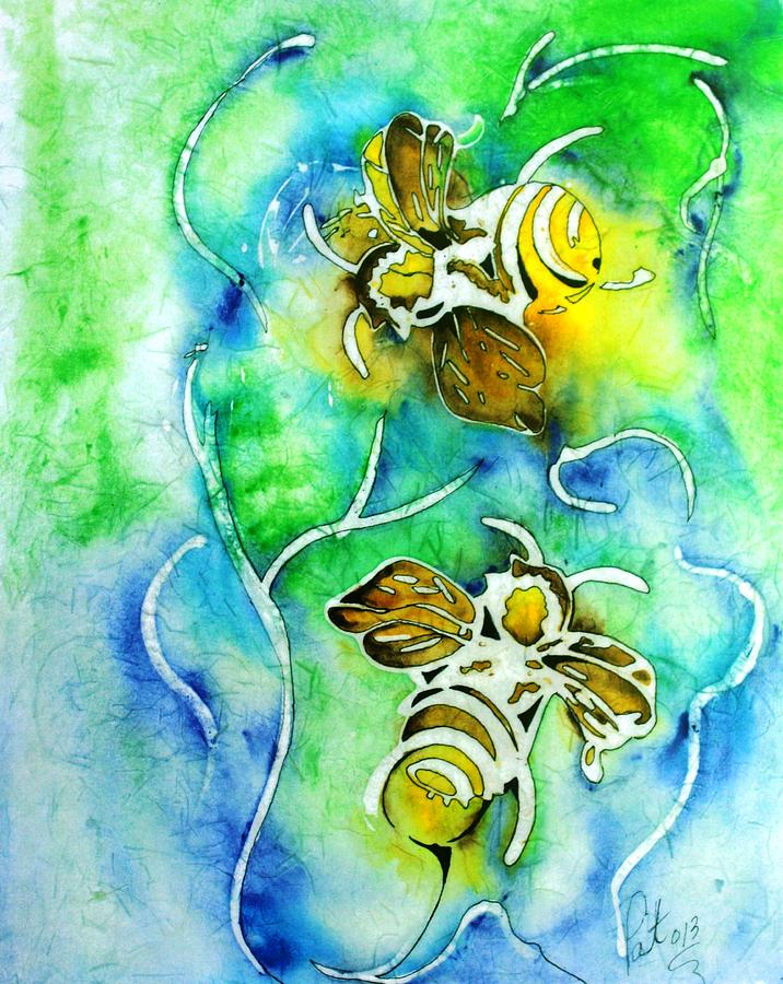 Good Day To Be A Bee Painting  - Good Day To Be A Bee Fine Art Print