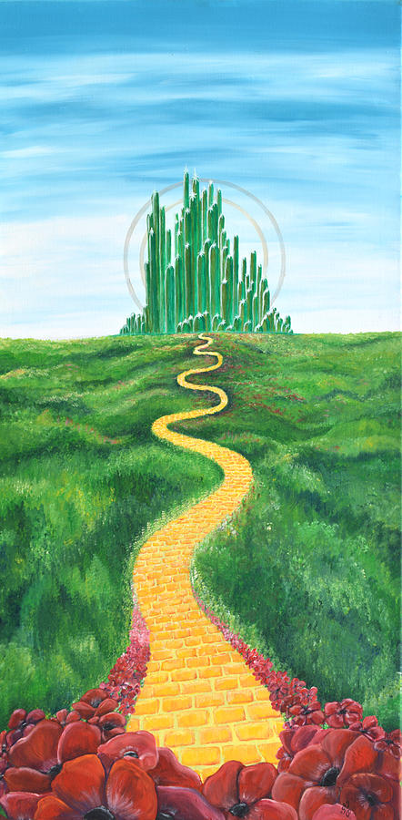 Goodbye Yellow Brick Road Painting By Meganne Peck