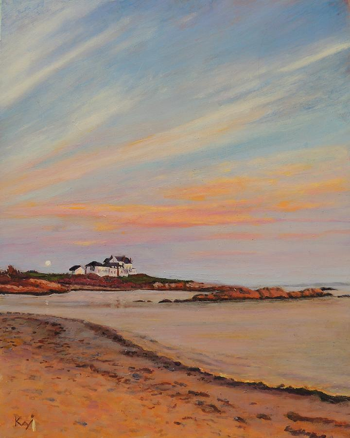 Rhode Island Beaches: Gooseberry Beach Newport Rhode Island Painting By Patty