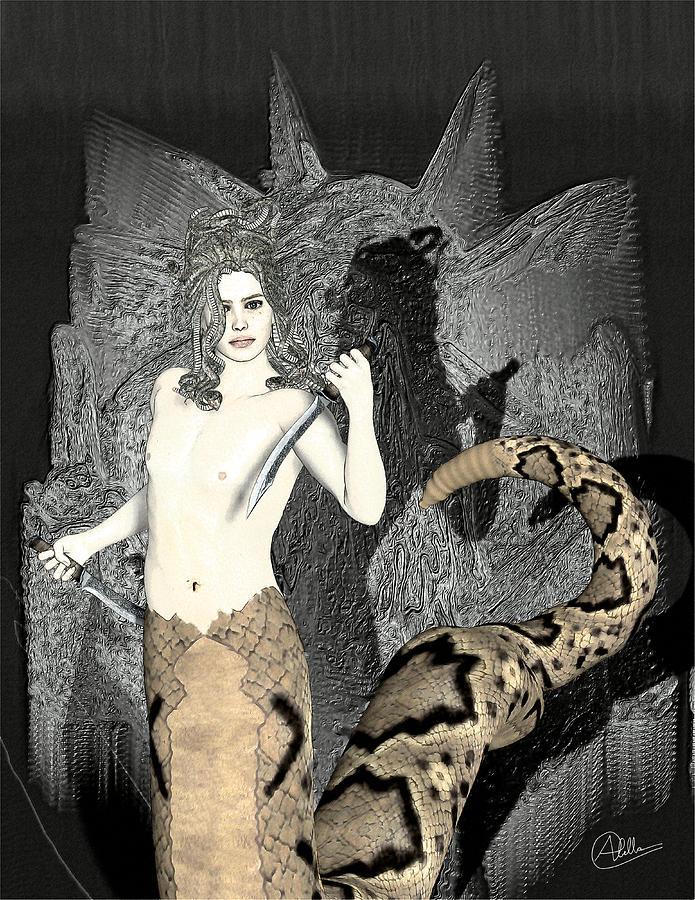 Gorgon Medusa Digital Art