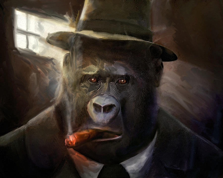 Gorilla Gangster is a mixed media by Gustav Boye which was uploaded on ...
