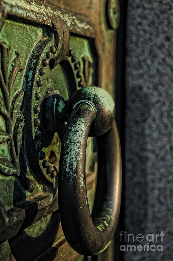 Crypt Door Knocker Photograph - Goth - Crypt Door Knocker by Paul Ward