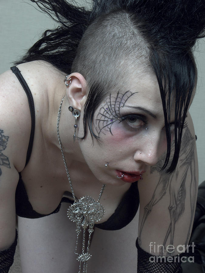 Goth Woman Prortrait Photograph