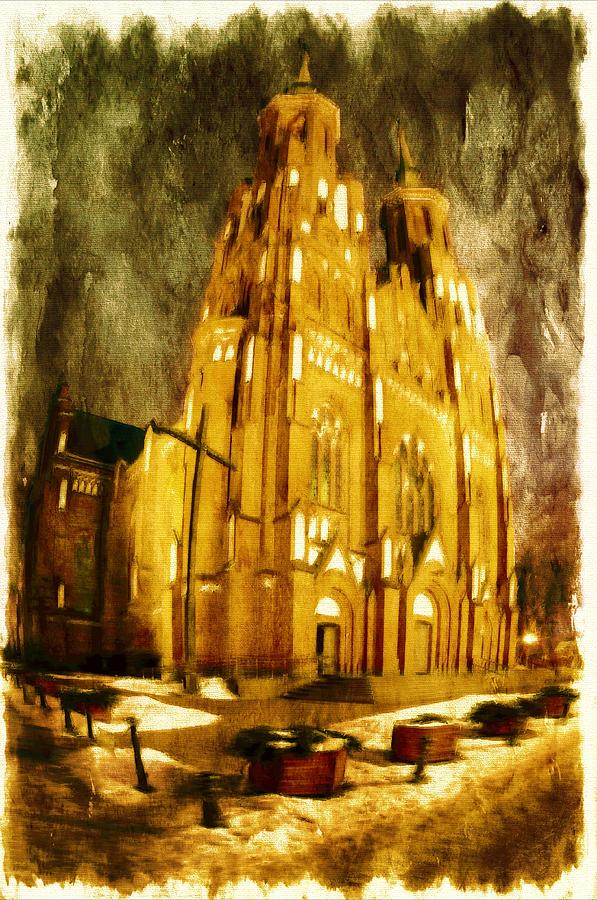 Gothic Cathedral Digital Art  - Gothic Cathedral Fine Art Print
