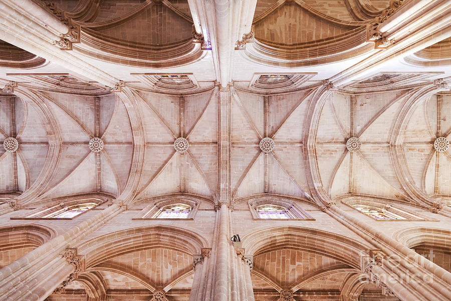 Gothic Ceiling Of The Batalha Monastery Church Photograph