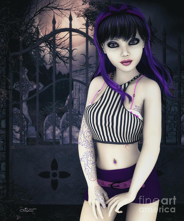 3d Digital Art - Gothic Temptation by Jutta Maria Pusl