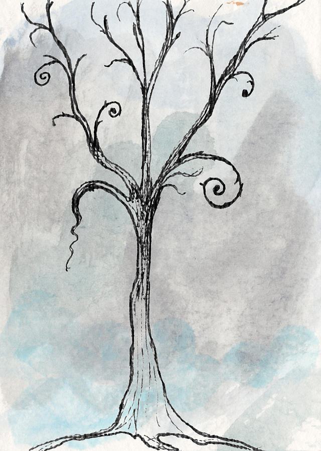 Gothic Tree Drawing