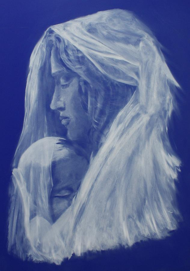 Grace - Breath Of Mary Painting  - Grace - Breath Of Mary Fine Art Print