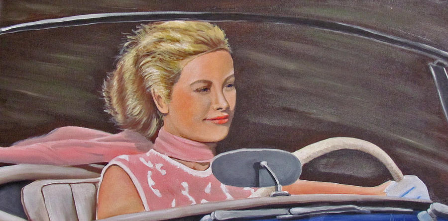 Grace Kelly - To Catch A Thief Painting  - Grace Kelly - To Catch A Thief Fine Art Print