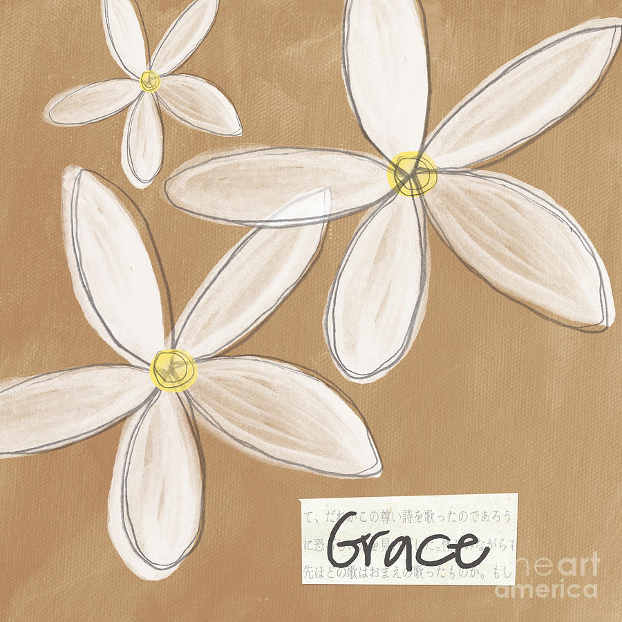 Grace Mixed Media  - Grace Fine Art Print