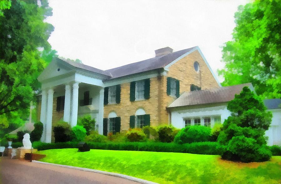 Graceland Mansion Mixed Media