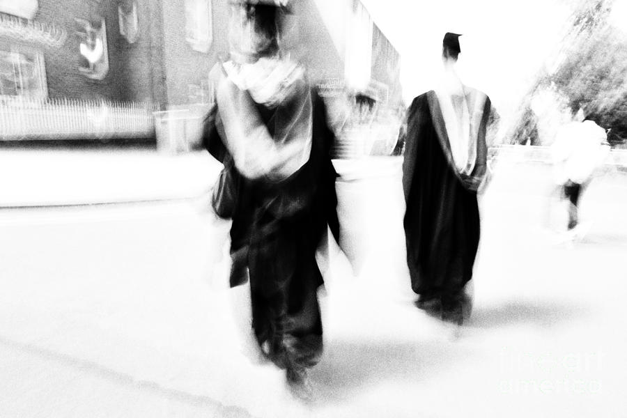 Graduate Photograph - Graduation Abstract In Black And White by Natalie Kinnear
