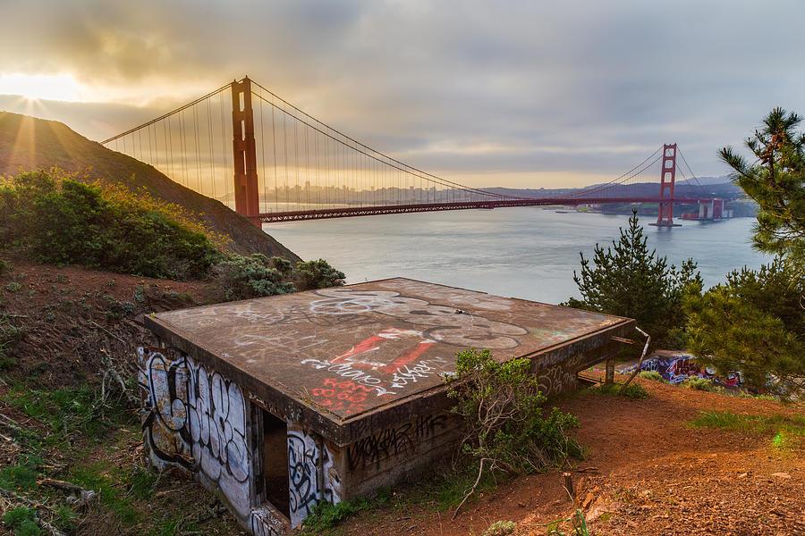 Golden Gate Bridge Photograph - Graffiti By The Golden Gate Bridge by Sarit Sotangkur