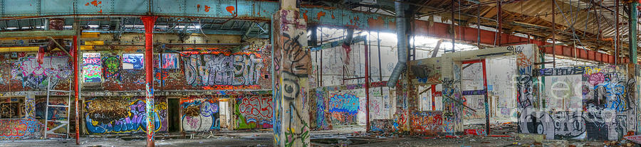 Graffiti Heaven Panorama Photograph