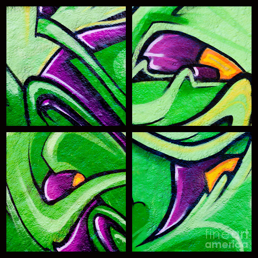 Graffiti In Green Photograph  - Graffiti In Green Fine Art Print