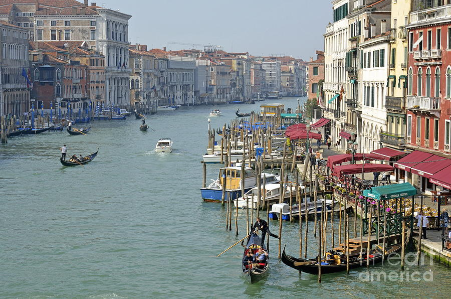 Grand Canal Viewed From Rialto Bridge Photograph
