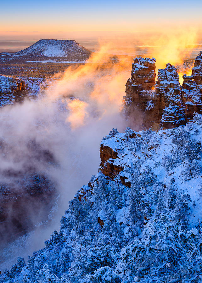 Grand Canyon - Winters Fire Photograph
