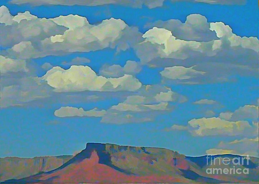 Grand Canyon Horizon Painting  - Grand Canyon Horizon Fine Art Print