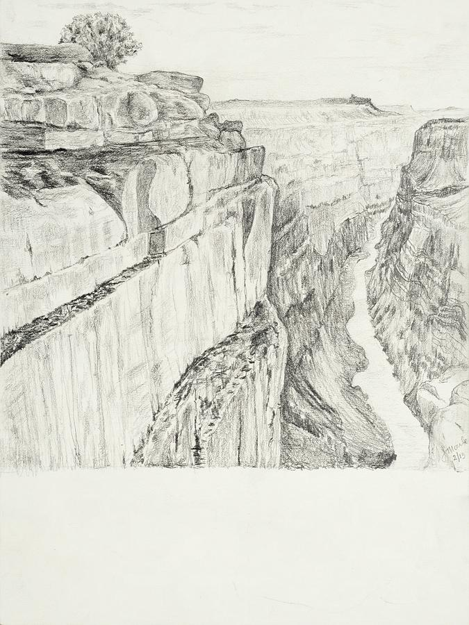 Grand Canyon Drawing by Jean Moule