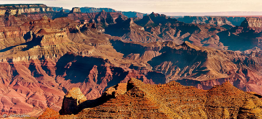 Grand Canyon Navajo Point Panorama At Sunrise Photograph  - Grand Canyon Navajo Point Panorama At Sunrise Fine Art Print