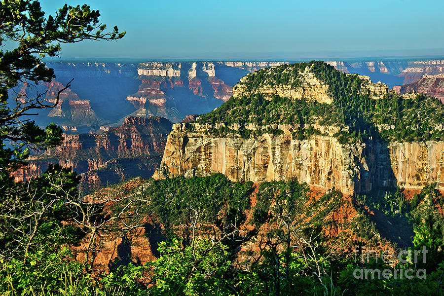 Grand Canyon Peak Angel Point Digital Art  - Grand Canyon Peak Angel Point Fine Art Print