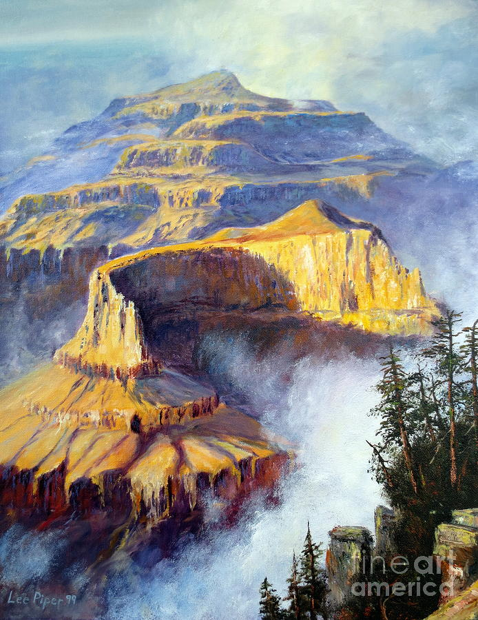 Arizona Painting - Grand Canyon View by Lee Piper