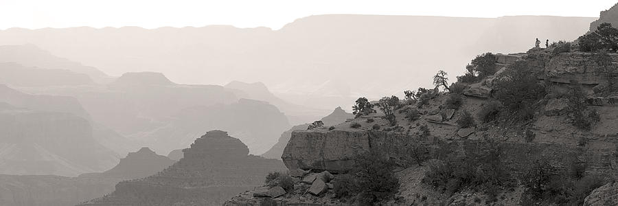 Grand Canyon Waking Up Bw Photograph