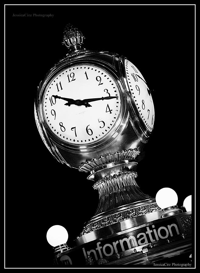 Grand Central Station Clock Black And White PhotographGrand Central Station Clock Black And White